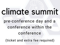 climate summit: pre-conference day and a conference within the conference (ticket and extra fee required)